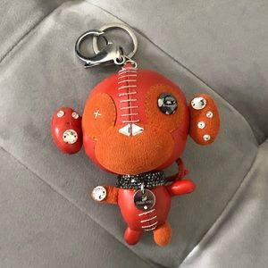 Swarowski Monkey Charm Keychain